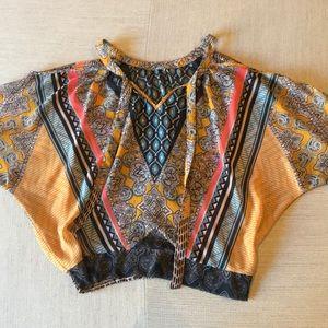 Tops - Multicolor open shoulder top